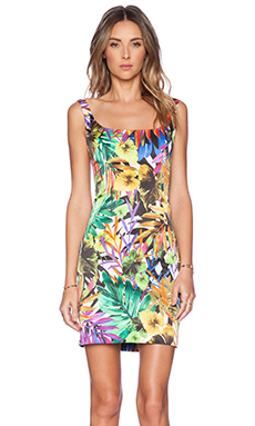 MILLY Tank Dress in Tropical Multi