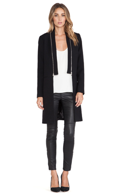 MILLY Zip Coat in Black