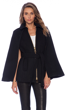 MILLY Sienna Cape in Black