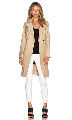 MILLY Waterproof Trench Coat in Khaki
