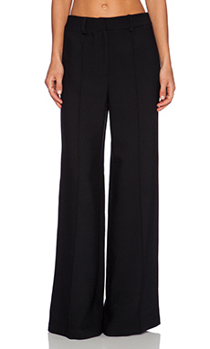 MILLY Hayden Pintuck Trouser in Black