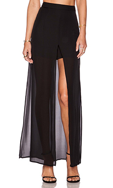 MILLY Slashed Pant in Black