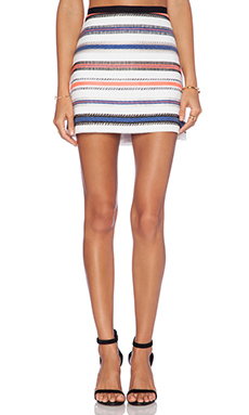 MILLY Mini Skirt in Stripe Multi