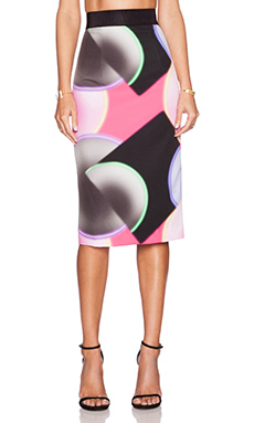 MILLY Glow Print Midi Skirt in Multi