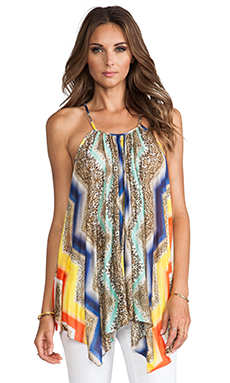 MILLY Gathered Tank in Multi