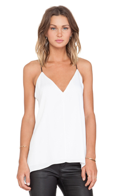MILLY Deep V Tank in White