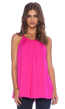 MILLY Pleated Tank in Fuchsia
