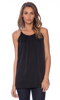 MILLY Pleated Tank in Black