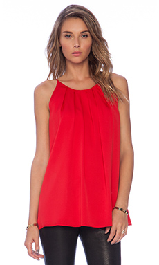 MILLY Pleated Tank in Red