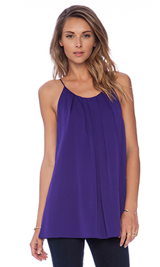MILLY Pleated Tank in Violet