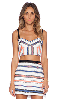MILLY Bustier Top in Stripe Multi
