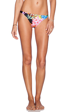 MILLY Tropical Orchid Print Loulou Bikini Bottom in Multi