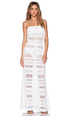 MILLY Pahala Crochet Maxi Dress in White