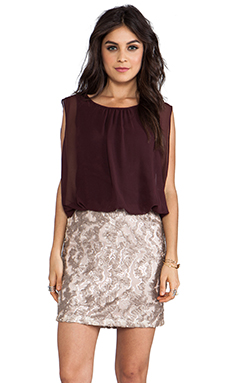 MM Couture by Miss Me Sequin Bottom Dress in Wine