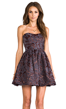 MM Couture by Miss Me Strapless Bustier Dress in Purple