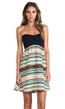 MM Couture by Miss Me Strapless Dress in Multi Print