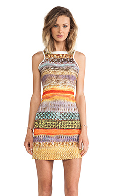 MM Couture by Miss Me Sleeveless Dress in Multi Print