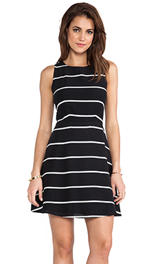 MM Couture by Miss Me Stripe Sleeveless Dress in Black