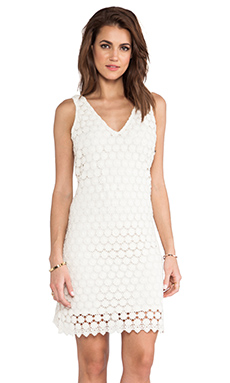 MM Couture by Miss Me Allover Lace Dress in Ivory