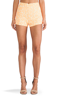 MM Couture by Miss Me Animal Print Shorts in Neon Orange