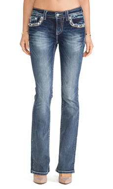 Miss Me Jeans Midrise Boot in MK 334