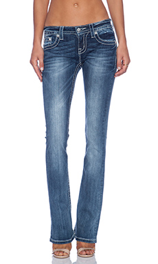 Miss Me Jeans Mid Rise Bootcut Jean in MK 358