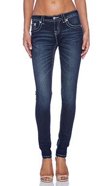 Miss Me Jeans Mid Rise Skinny Jean in DK 313