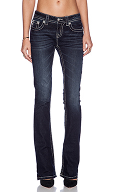 Miss Me Jeans Midrise Bootcut Jean in DK 331