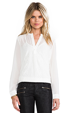 MM Couture by Miss Me Long Sleeve Blouse in White