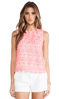 MM Couture by Miss Me Lace Front Tank in Pink