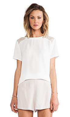 MM Couture by Miss Me Short Sleeve Shirt in White