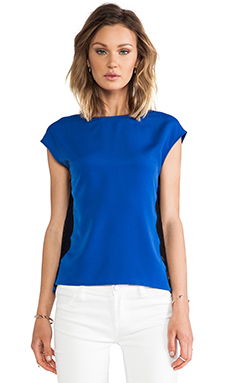 MM Couture by Miss Me Lace Side Top in Blue