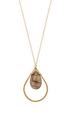 Mimi & Lu Mason Necklace in Smokey Quartz