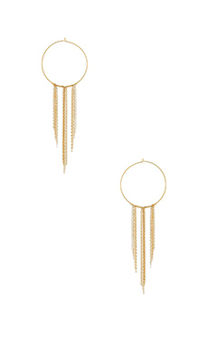 Mimi & Lu Mila Earrings in Gold