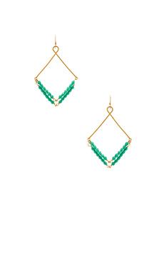 Mimi & Lu Leena Earrings in Seafoam