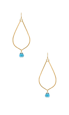 Mimi & Lu Cayla Earrings in Gold & Aqua