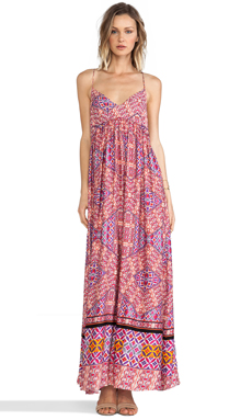 MINKPINK Water color Tiles Maxi Dress in Multi