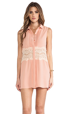 MINKPINK Spread Your Wings Shirt Dress in Blush