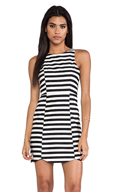 MINKPINK Monochrome Pop Dress in Black & White