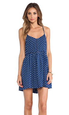 MINKPINK Picnic Date Dress in Blue & White