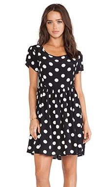 MINKPINK Falling Rose Dress in Black & White