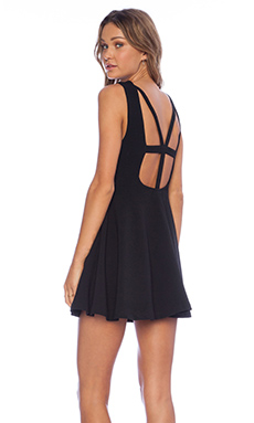 MINKPINK Don't Cross Me Dress in Black