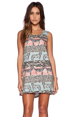 MINKPINK Animal Stripe Shift Dress in Multi
