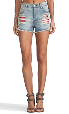 MINKPINK What You Know Shorts in Denim Blue