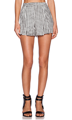 MINKPINK Gingham Short in Black