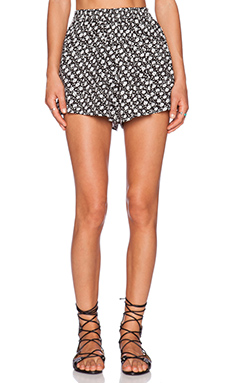 MINKPINK Ditty Floral Short in Black