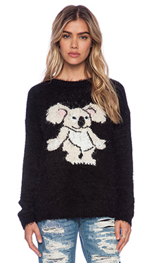 MINKPINK Blinky Knit Jumper in Black