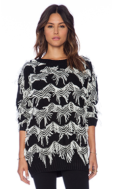 MINKPINK Lost In Space Pullover in Black/Off White
