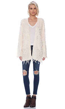 MINKPINK The Traveler Cardigan in Natural