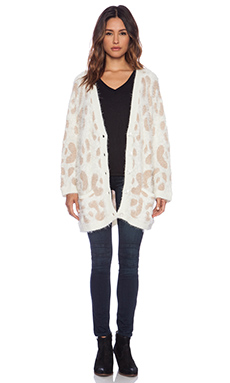 MINKPINK Nocturnal Cardigan in Cream & Rose Gold